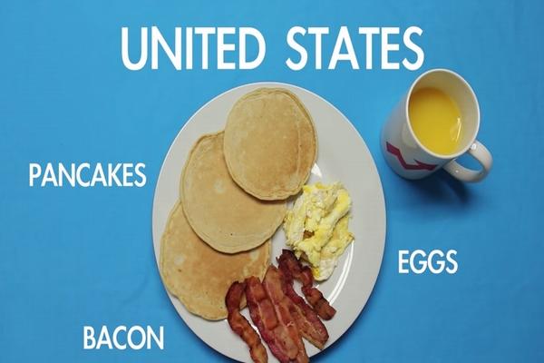 世界各国の朝食を比べた動画が面白い!日本は?うーん。。それ?