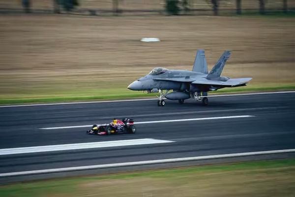 【ガチンコ対決】F1カー vs 戦闘機F/A18ホーネット どっちが速い!?