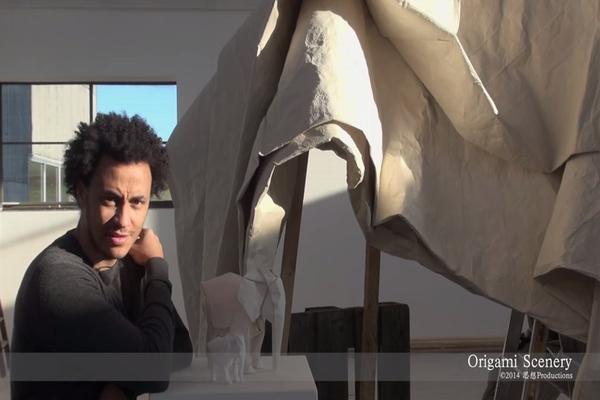 """【折り紙アート】全長3mの等身大の""""象""""を作ってみた"""