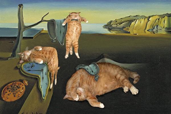 【シュール】有名絵画と猫がコラボしたちょっと不思議な絵画14点