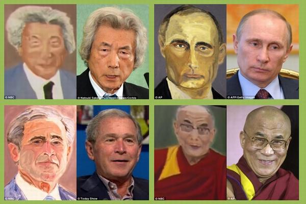 ブッシュ元大統領に意外な特技が!プーチンや小泉元首相の肖像画が激似