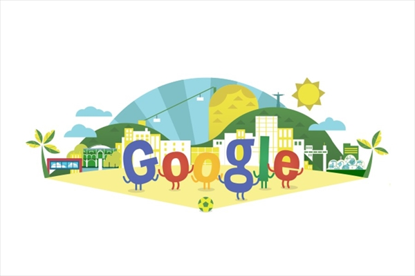 いよいよ開幕!GoogleロゴがブラジルW杯2014仕様に