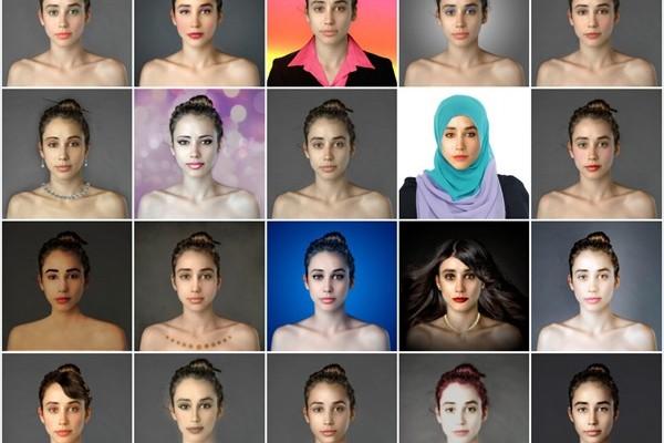 お国柄が表れている25カ国以上の美しい顔をフォトショップで作ってみた