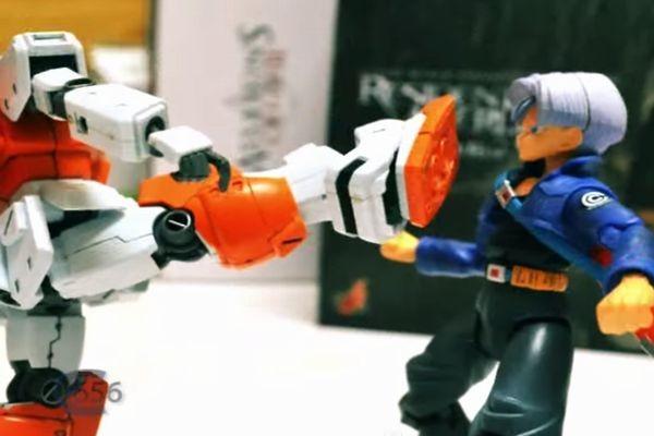 トランクス vs ガンダム!?ストップモーションアニメがハイクオリティ過ぎる