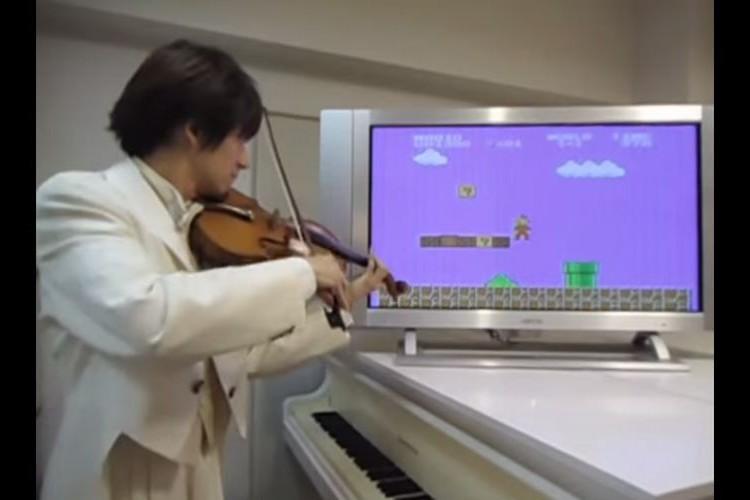 """ヴァイオリンで弾いた""""スーパーマリオ""""が表現力豊か過ぎてワクワク感が止まらない"""