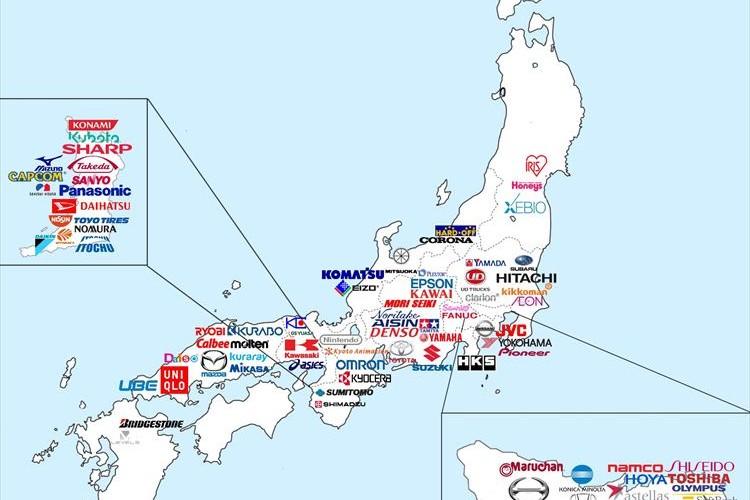 日本の有名企業所在地マップを見た外国人の声が意外で面白い