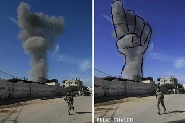 爆発による煙に描くアートから戦争の悲劇を訴える10の作品