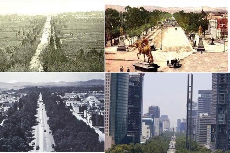 1900年くらいのいろんな国のいろんな街並みの写真がとても興味深い