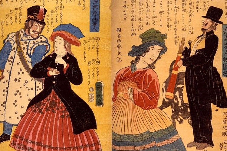 幕末から戦前の日本人が描いた欧米人のイメージが興味深い【画像あり】
