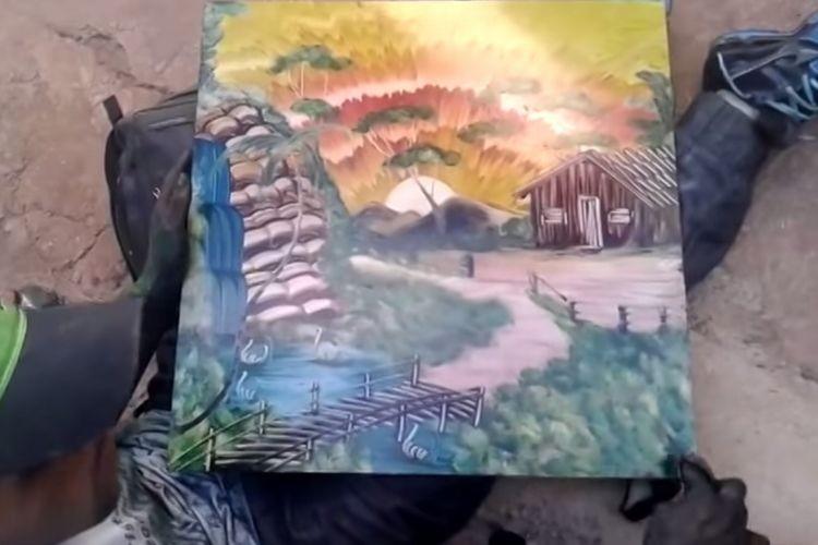【ノーカット】手のひらで描く神業アートの信じられない映像