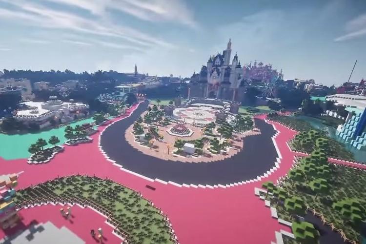 【スゴすぎる】東京ディズニーランドをマインクラフトで完全再現!建物もアトラクションも完璧だ!(動画あり)