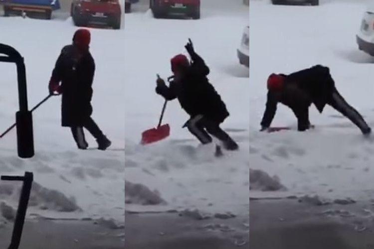 【動画】転びそうで転ばない、もう転んじゃえよと思う9秒の映像に腹を抱えて笑った