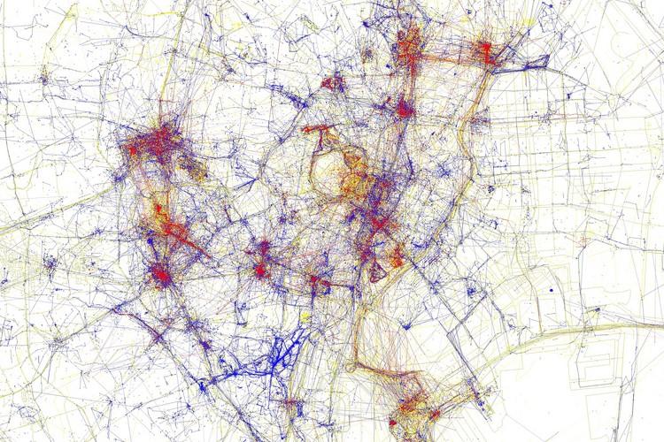 東京の地元民と観光客の行動パターンを表した地図が面白い