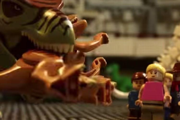 """1,200万円分のレゴブロックで映画""""ジュラシックパーク""""を再現した父と娘がスゴい!"""