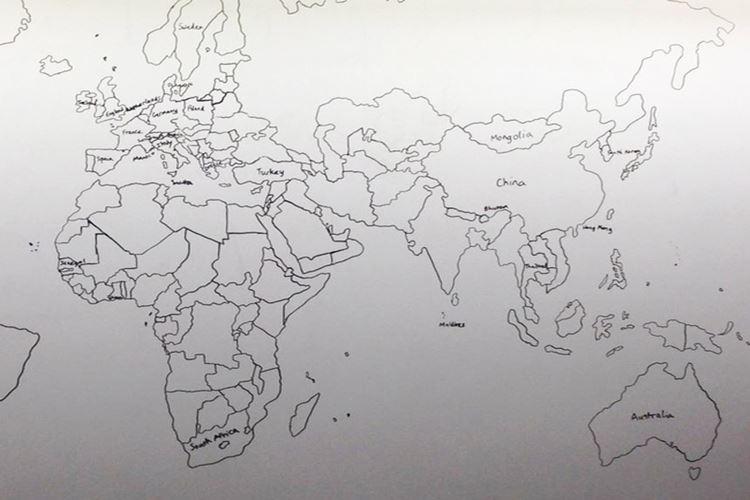 【驚愕の能力】11歳の自閉症の少年が記憶だけを頼りに描いた世界地図が凄すぎる!