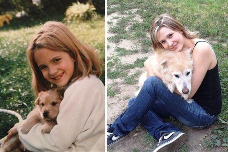 【愛犬の昔と今】成長ぶり&飼い主との絆が伝わってくる可愛らしい画像14点