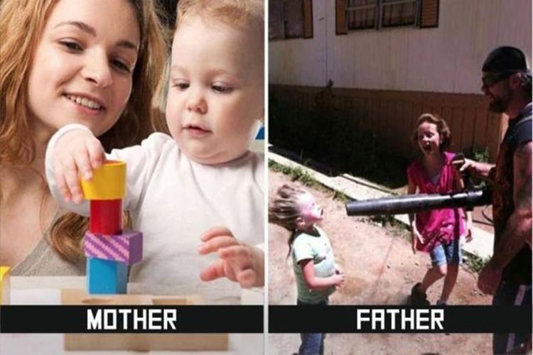 10枚の写真で分かる!パパとママでは子育て方法がこんなに違う!!