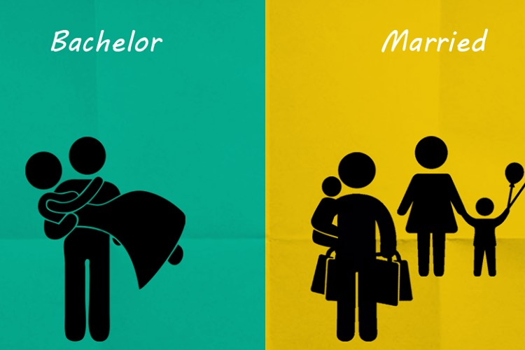 独身男性と既婚男性の違いを表したあるあるイメージが面白い!