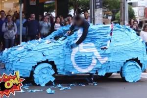 【制裁ドッキリ】障がい者等用駐車スペースに無断で駐車した結果・・・