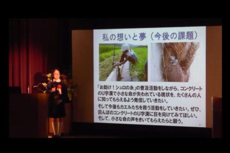 【天才少女】カエルを助けたい!12歳の少女が発明した「シュロの糸」が凄い!