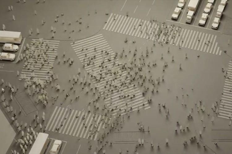 """""""小さな紙を使用した模型""""で、渋谷駅前の交差点を再現した様子が凄い!"""