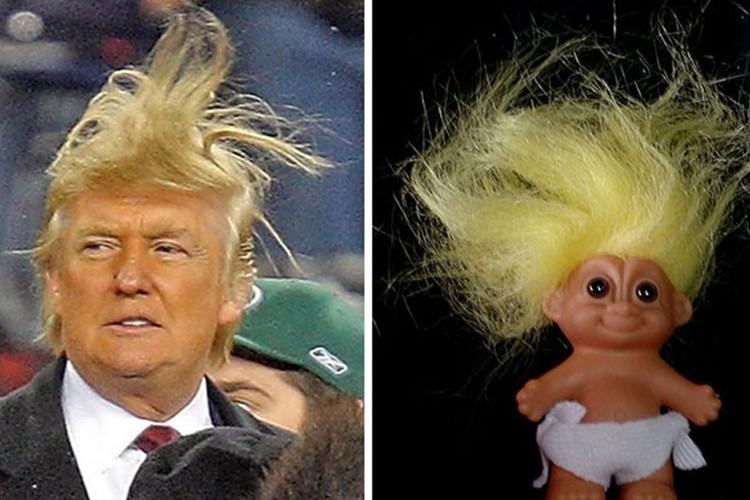 アメリカの不動産王の髪型を真似た画像が流行っている!?
