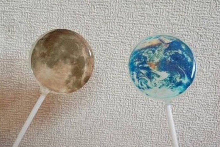 地球の「アースキャンディ」と月の「ムーンキャンディ」が美しいと話題!