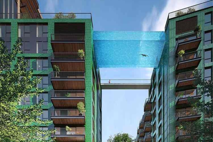 """ロンドンに""""空を泳いでいるような感覚""""が味わえる「空中プール」ができるらしい"""