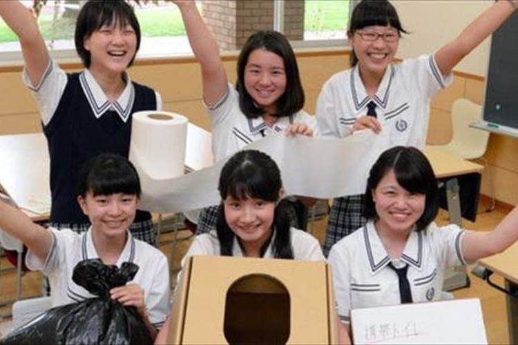 """目黒星美学園の女子中高生たちが""""災害時に使用する簡易トイレ""""を開発"""