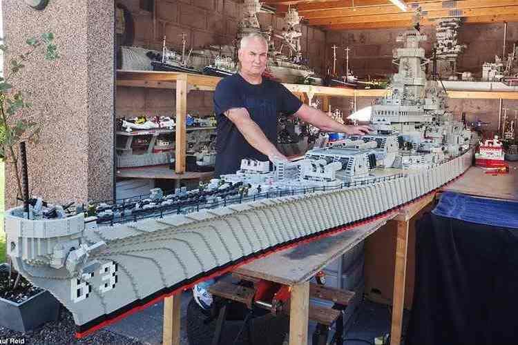 なんと全長7.4メートル!LEGOで制作された戦艦ミズーリが本気でデカすぎる