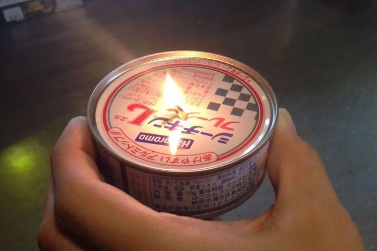 【警視庁オススメ】ツナ缶があっという間にランプに変身しちゃう驚きのアイディア!