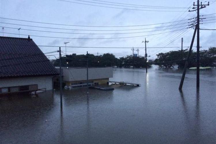 50年に1度の記録的な大雨!台風18号の影響で栃木県内がまるで海のように