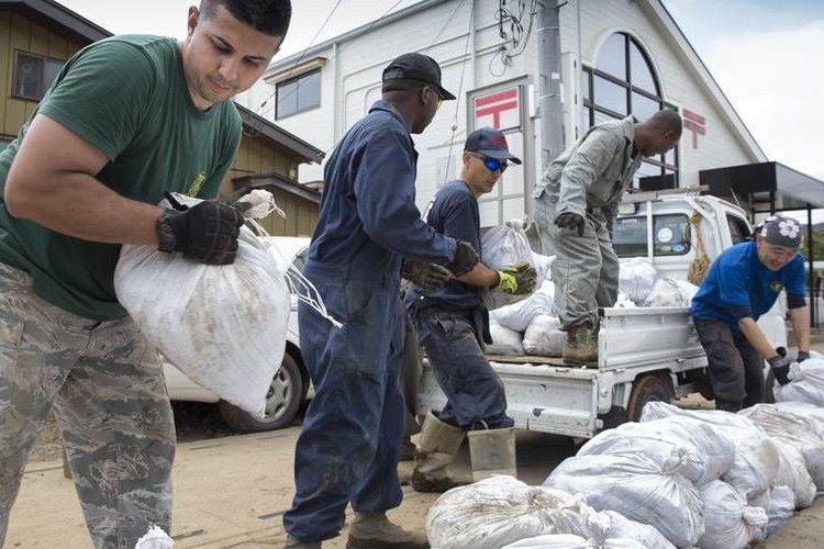 """豪雨災害の栃木県で""""横田基地の米軍隊員が復興ボランティア""""をしてくれていた!"""