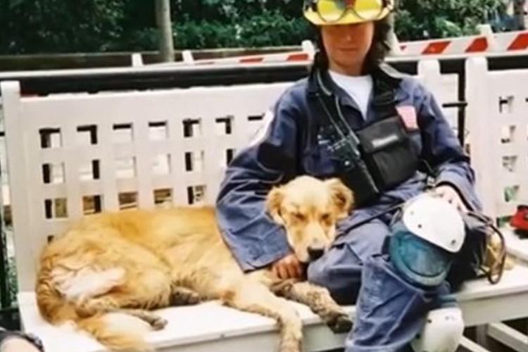 """「9.11で活躍した最後の救助犬」が16歳の誕生会""""苦楽を共にした飼い主も涙"""""""