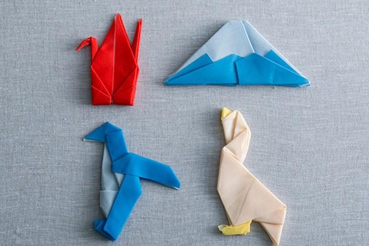 一瞬で折鶴に元通り!形状記憶されたクリーニングクロスがすごい!