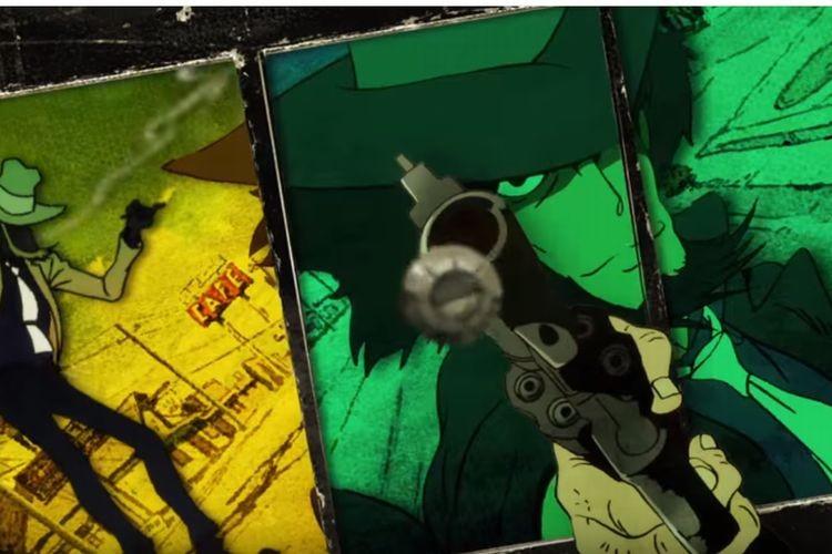 """アニメ""""ルパン三世""""のオープニングを片目で見ると3D映像に。「これはスゴいぞ!」と話題に!"""