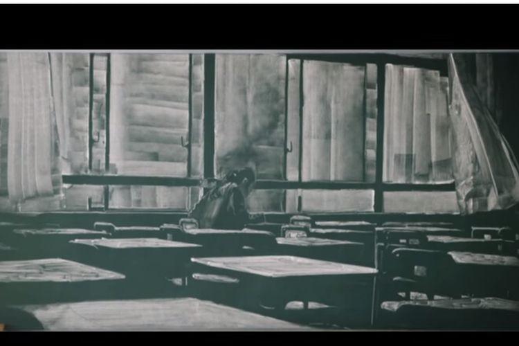 美大生34人が6,328枚もの黒板アートを描いた渾身の120秒のカロリーメイトCMが凄い!