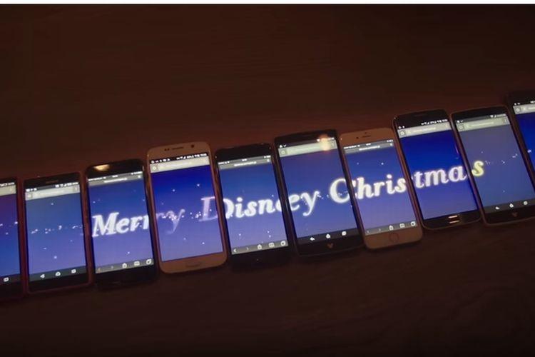 これはやってみたい!一足先にクリスマス気分。スマホでディズニーのイルミネーションが楽しめるぞ!