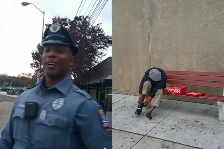 あなたはできますか?ひとりのホームレスに手を差し伸べた警察官のやさしさが話題に!
