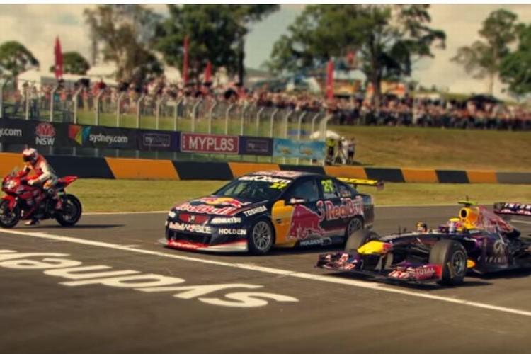 スーパーカー vs バイク vs F1カーが夢の対決!勝負に勝ったのはどれ?
