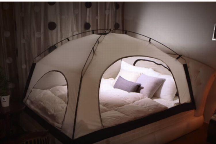 もう抜け出せない!ベッドにテントを張ったら快適過ぎた