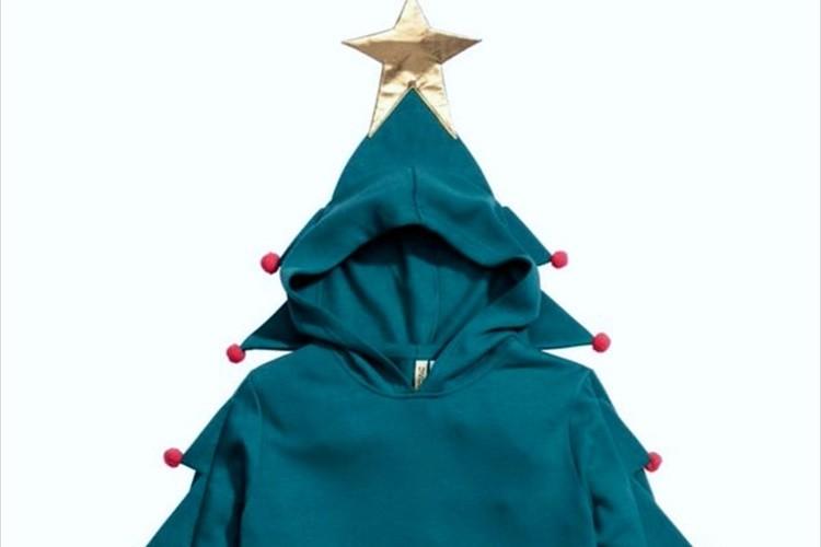 思わず着たくなる!?H&Mの「クリスマスツリースウェットパーカ」が斬新だと話題に!