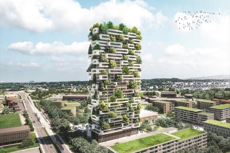 緑がこんなにたくさん!「常緑樹」が散りばめられたスイスの高層マンションが話題に!
