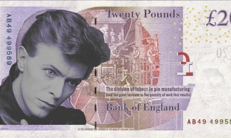 デヴィッド・ボウイをイギリスの20ポンド紙幣に!賛同者が広がり英政府に呼びかけへ