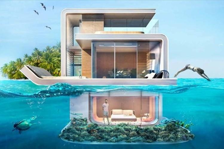"""海面下に寝室とバスルーム!ドバイに建設予定の""""海に浮かぶ家""""が話題に!"""