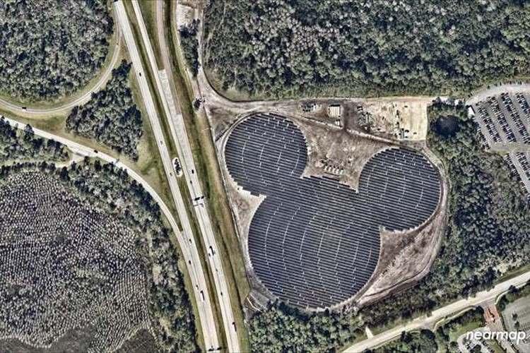 上から見ないと分からない!米ディズニーワールドの隣に最大の隠れミッキー!