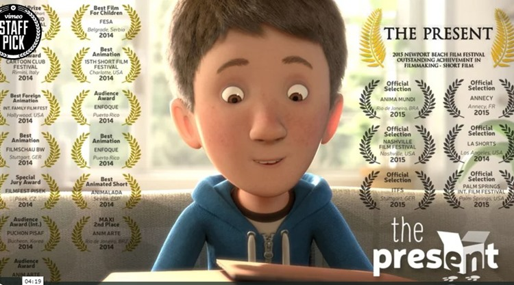 【感動のショートアニメ】59もの映画賞を総ナメしている4分間のアニメ「The Present」に感動