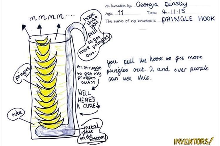 「プリングルズって食べづらいよね...」子供らしいアイディアを実物にするプロジェクトが面白い!