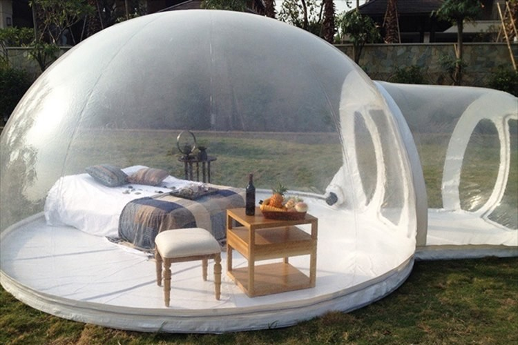 """""""中が丸見え""""だけど最高の開放感!近未来感漂うテントがアウトドアに革命を起こす!"""