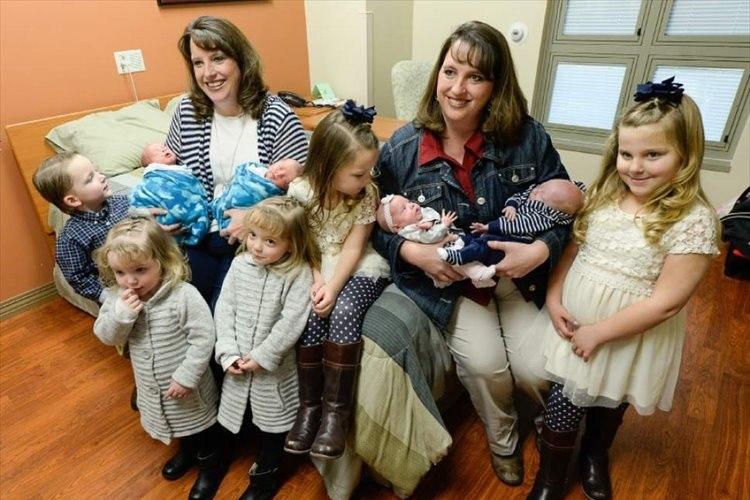 こんな事があるのか!?双子の姉妹がそれぞれ双子を出産!しかも2度目という奇跡